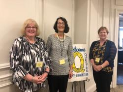 New State Officers (left to right): Nancy Guillemette (Corresponding Secretary), Gail Jaskowiak (President) and Pam Van